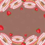 Bakery market. Frame for cafe menu. Food design template. Vector background illustration. Frame template vector illustration. Concept background picture Stock Image