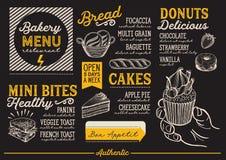 Bakery menu restaurant, food template. Royalty Free Stock Images