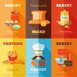 Bakery mini poster set Stock Photos