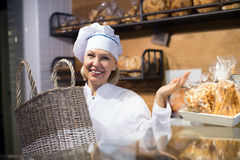 Bakery offering bread and different pastry for sale Stock Images