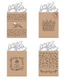 Bakery packages set Royalty Free Stock Photography