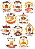 Bakery and pastry badges or emblems Stock Image