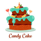 Bakery or pastry cake logo, candy pie icon Stock Image