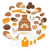 Bakery and pastry collection doodle vector illustration Stock Images