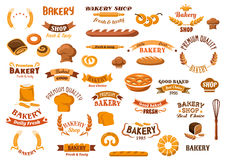 Bakery and pastry  design elements Stock Photos