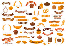 Bakery and pastry elements for design Royalty Free Stock Images