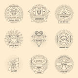 Bakery and pastry hipster vintage logo set Royalty Free Stock Photo
