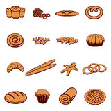 Bakery and pastry icons Stock Photos