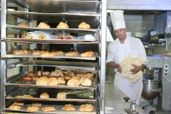 Bakery and pastry industry Stock Image