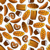 Bakery and pastry seamless pattern Stock Photography