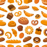 Bakery and pastry seamless pattern Royalty Free Stock Photos