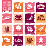 Bakery, patisserie icon set Royalty Free Stock Photography