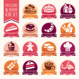 Bakery, patisserie icon set Royalty Free Stock Photo