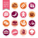 Bakery, patisserie icon set Stock Image
