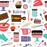 Bakery pattern Stock Images
