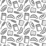 Bakery pattern outline royalty free illustration