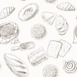 Bakery pattern Royalty Free Stock Image