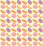 Bakery pattern Royalty Free Stock Photography