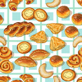 Bakery pattern Stock Image