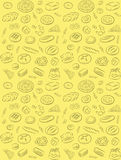 Bakery pattern. Vector pattern of seamless background with bakery products stock illustration