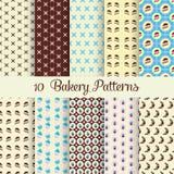 Bakery patterns Royalty Free Stock Photography