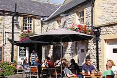 Bakery pavement cafe, Bakewell. Royalty Free Stock Photo