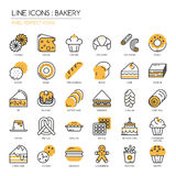 Bakery, Pixel perfect icons Royalty Free Stock Photos