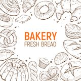 Bakery poster template Stock Photography