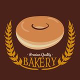Bakery PQ Donut Brown Background Vector Royalty Free Stock Photography