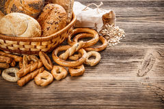 Bakery product assortment stock images
