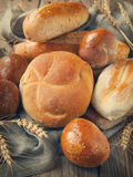 Bakery product assortment with bread and buns Stock Photo
