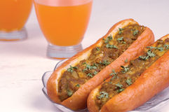 Bakery Product Hot Dog Stock Photo