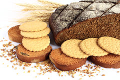 Bakery products. Bakery products - a source of carbohydrates and vitamins Stock Images