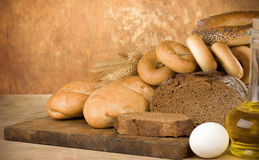 Bakery Products And Wheat Grain Stock Images