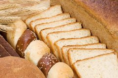 Bakery products as texture Stock Photos