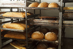 Bakery products in bakery shop Stock Photo