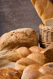 Bakery products and basket Stock Image