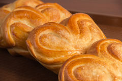Bakery products. Golden brown cakes, and all Russian belyashi ru Stock Images