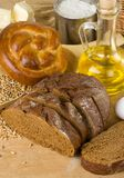 Bakery products and grain Stock Photography