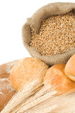 Bakery products and grain Royalty Free Stock Image