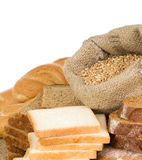 Bakery products and grain isolated Stock Photos