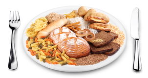 Bakery products on a plate. Stock Image