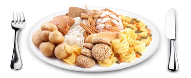 Bakery products on a plate. Royalty Free Stock Photo