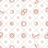 Bakery products  seamless pattern. vector illustration Royalty Free Stock Photos