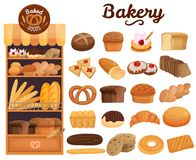 Bakery Products Set vector illustration