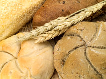 Bakery Products. Shot from above royalty free stock photography
