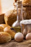 Bakery products on table Royalty Free Stock Photography