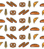 Bakery products. Vector illustration of the fresh bakery products Stock Photo