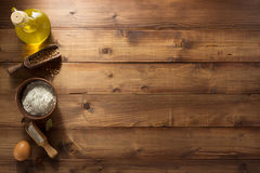 Bakery products on wood Stock Image