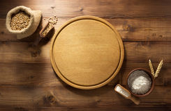 Bakery products on wood Royalty Free Stock Photography